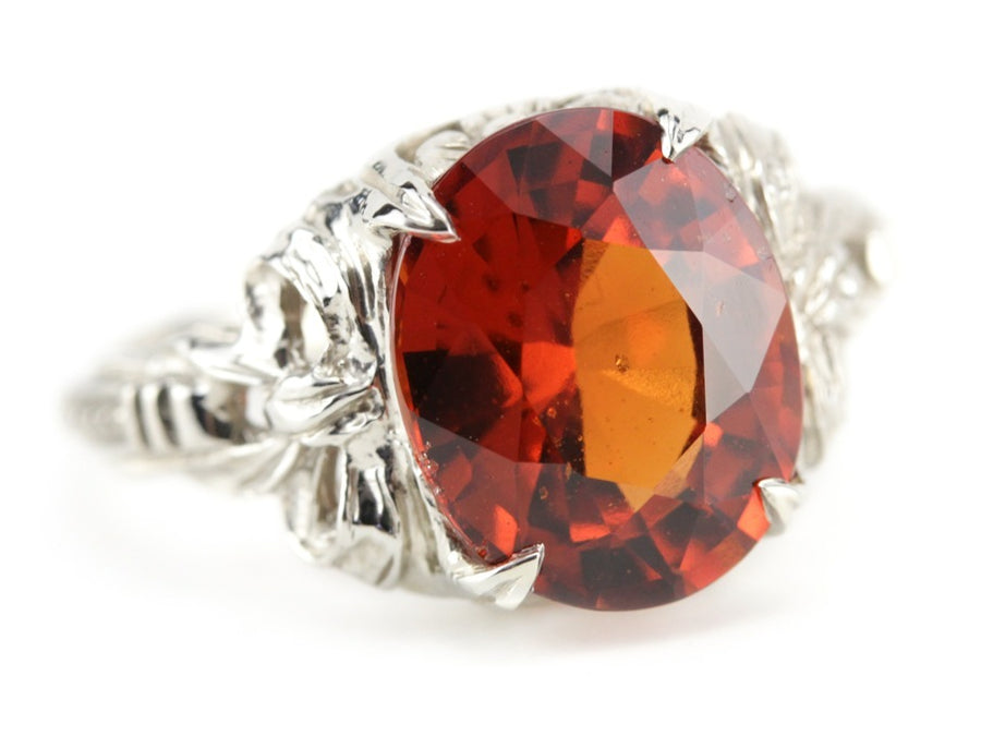 Hessonite Garnet Cocktail Ring in the Betty Setting from The EH Collection