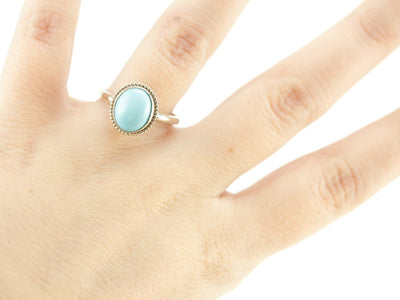 Turquoise in White Gold, The Emma Ring From the Elizabeth Henry Collection