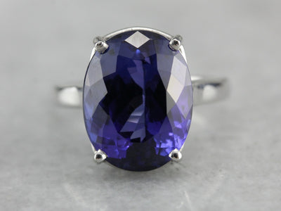Tanzanite and Platinum Cocktail Ring