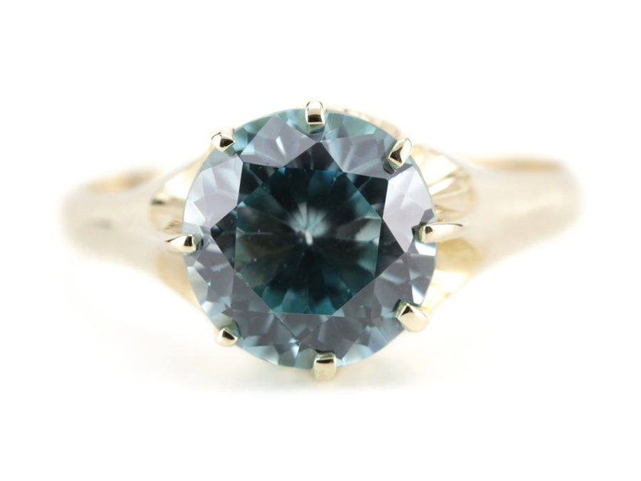 The Woodman Blue Zircon Cocktail Ring by Elizabeth Henry