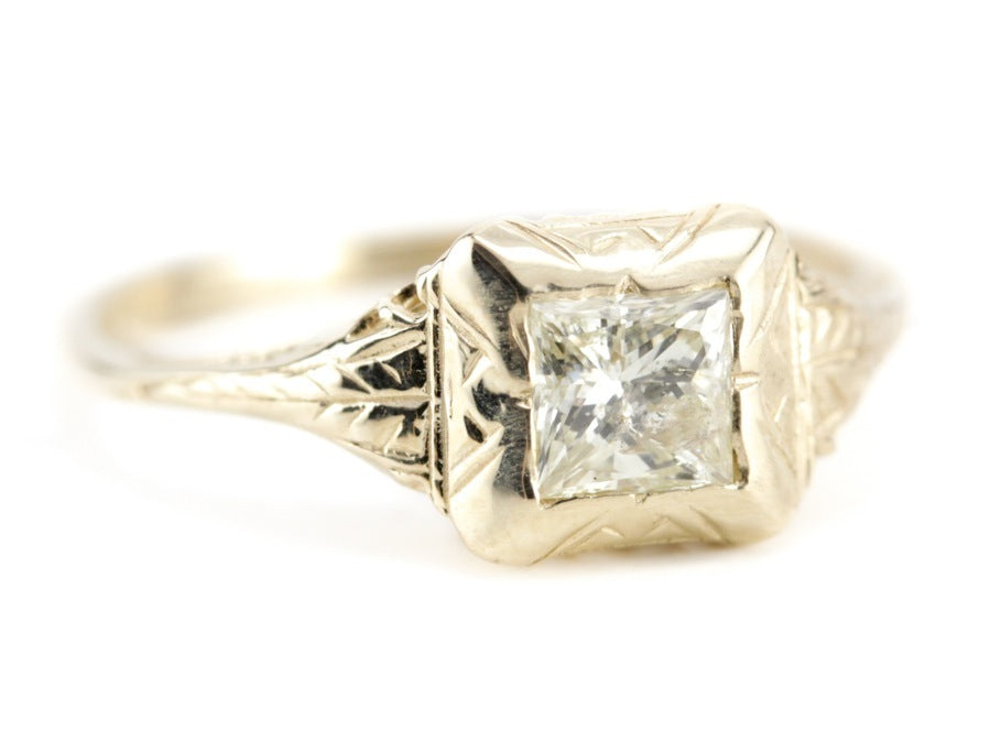 The Elwyn Diamond Engagement Ring from The Elizabeth Henry Collection