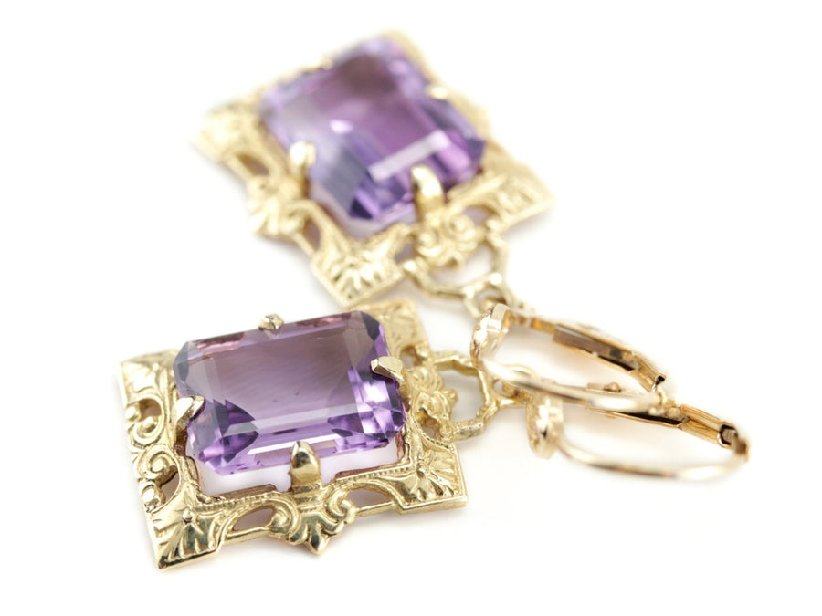 Amethyst and Yellow Gold Isabel Earrings from The Elizabeth Henry Collection
