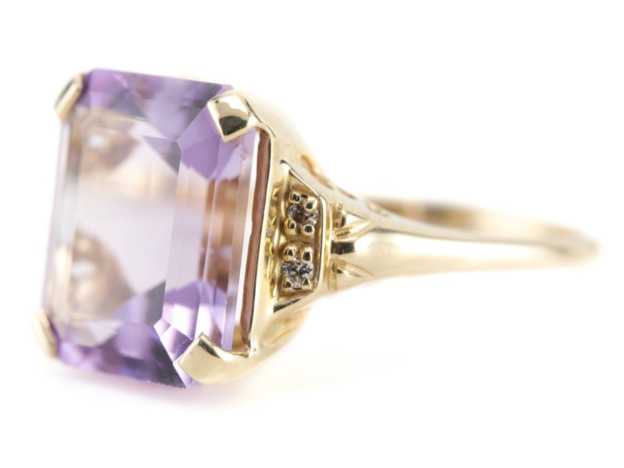 The Juliana Amethyst Cocktail Ring by Elizabeth Henry