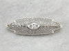 Outstanding Filigree Brooch with One Carat Diamond Center, Art Deco Finery