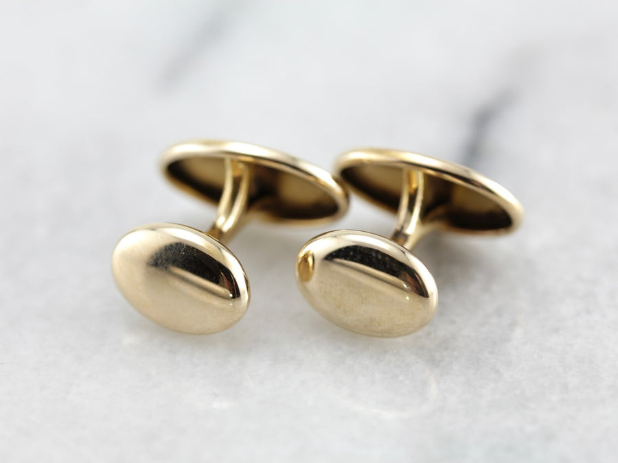 Monogram Ready, Antique Yellow Gold Cufflinks