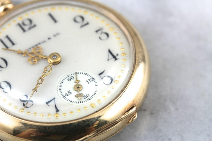 A. Stowell and Company Monogramed 1913 Waltham Pocket Watch