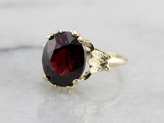 Deep Red Garnet Hazel Ring from The Elizabeth Henry Collection