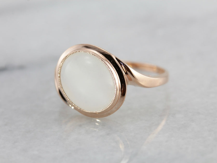 Alluring Emily, Moonstone and Rose Gold Emily Ring from The Elizabeth Henry Collection 8A9CM9-N