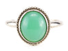 Chrysoprase Emma Ring in White Gold, From The Elizabeth Henry Collection