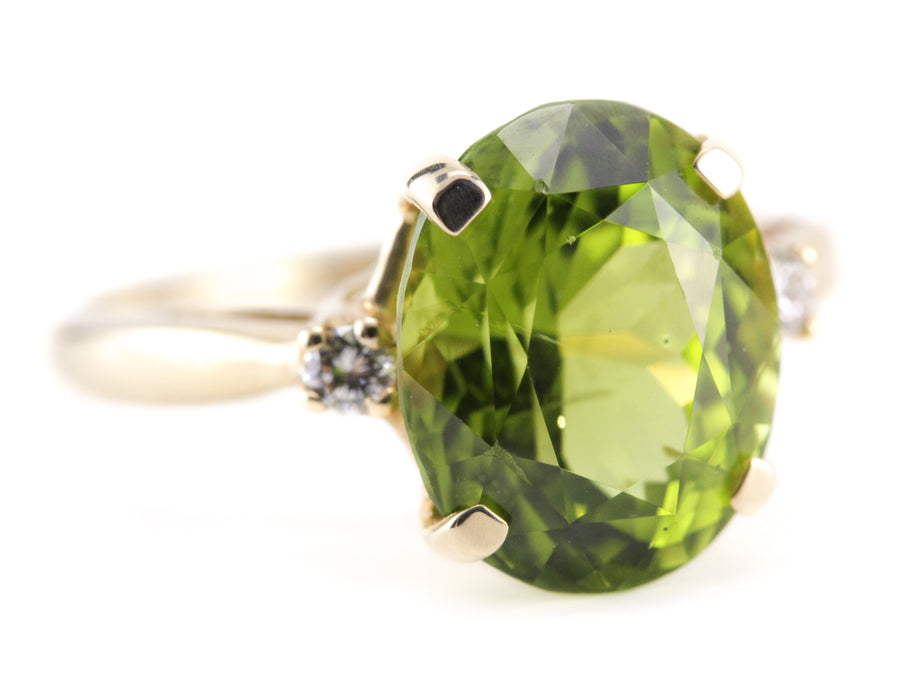 The Ashley Peridot and Diamond Ring from Elizabeth Henry