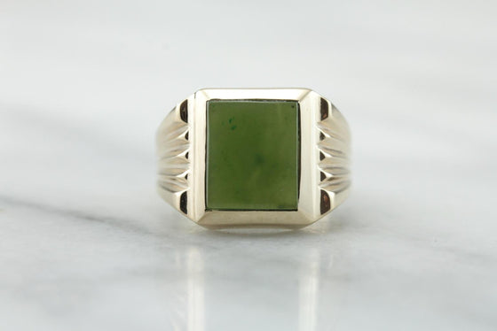Don Draper, Retro Era Men's Jade Ring