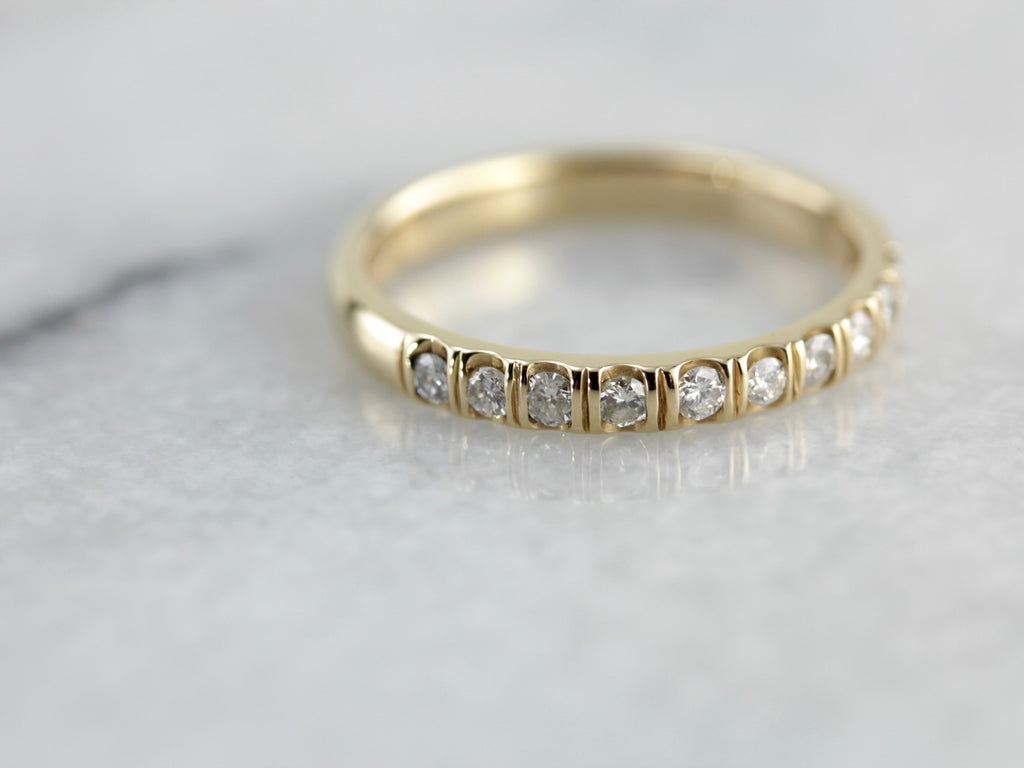 Art Carved Double Lined Diamond Band