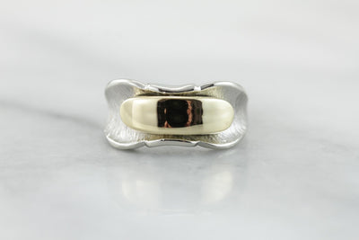 Modernist Mixed Metal Right Hand Ring