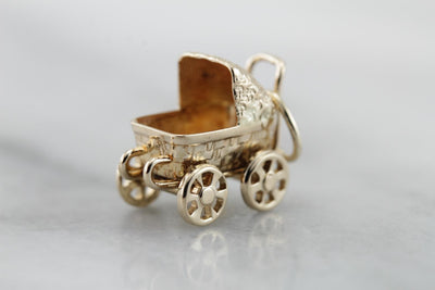 Baby Buggy Bumpers: Vintage Baby Carriage, Baby Shower Keepsake Charm