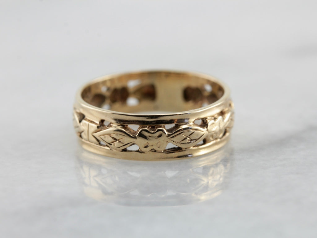 Vintage Filigree Forget Me Not Band