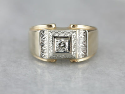 Men's 1940's Retro Era Diamond Ring