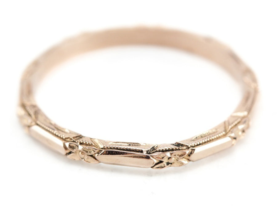 The Amelia 14K Rose Gold Band by Elizabeth Henry