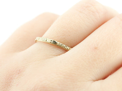 The Cora 14K Yellow Gold Band by Elizabeth Henry