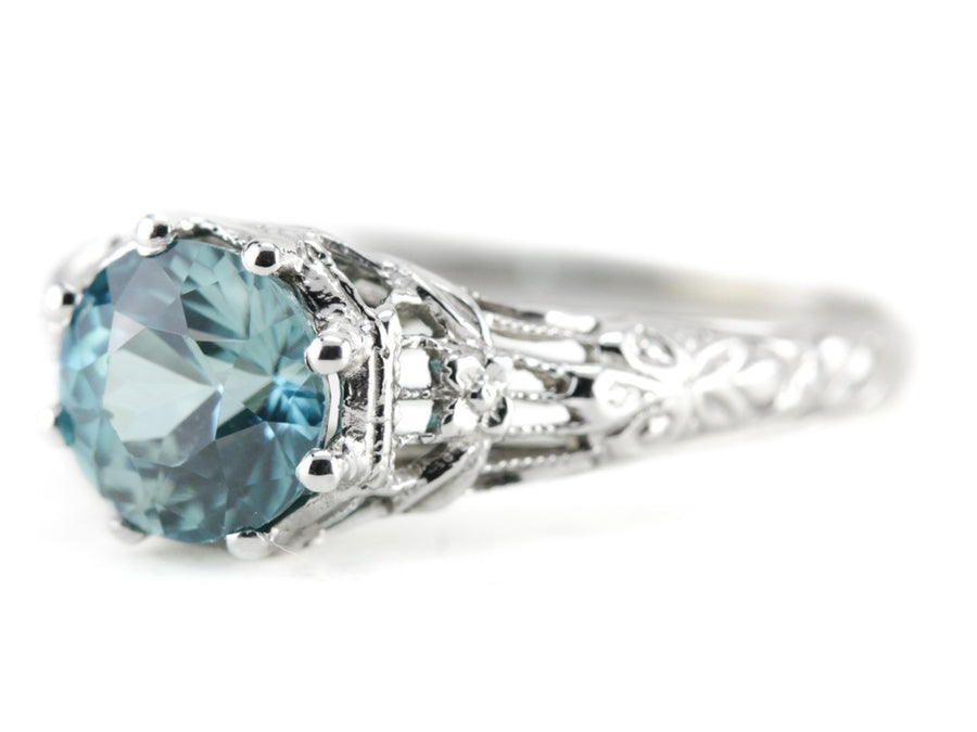 The Wreath Blue Zircon Ring by Elizabeth Henry