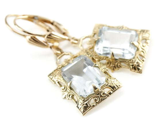White Topaz Isabel Earrings from The Elizabeth Henry Collection