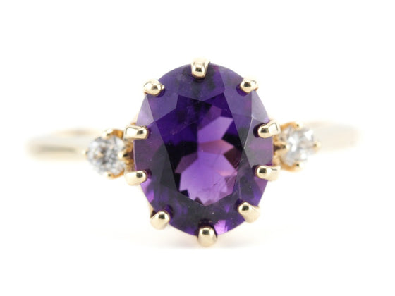 The Layla Amethyst Cocktail Ring by Elizabeth Henry