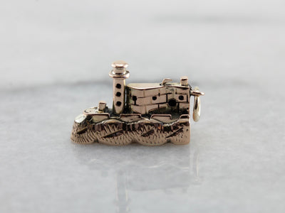 Shoreline Seacoast Lighthouse Charm or Pendant in Rose Gold