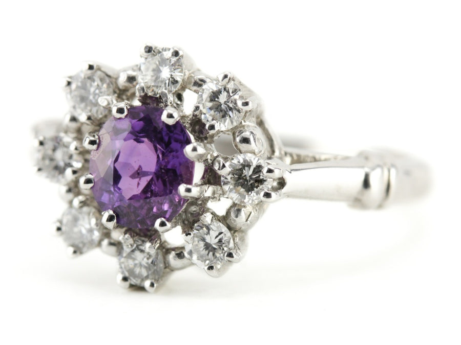 The Peverly Purple Sapphire Platinum Ring by Elizabeth Henry
