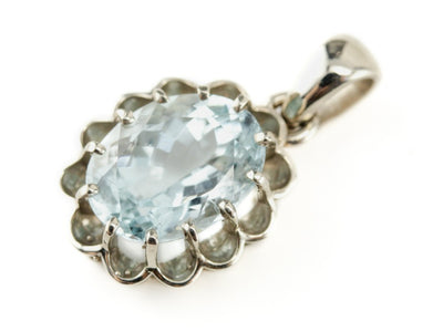 The Elsie in Aquamarine Pendant by Elizabeth Henry