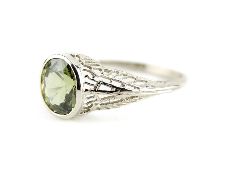 The Nola Chrysoberyl Filigree Ring from The Elizabeth Henry Collection