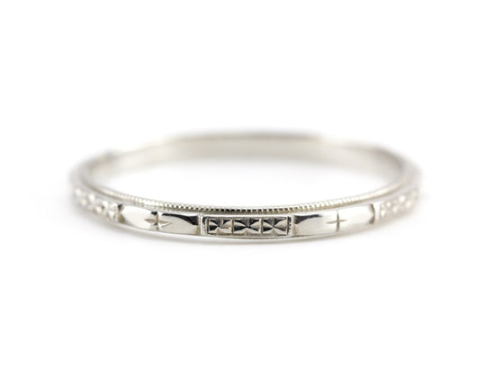 The Cora Band in 14K White Gold from The Elizabeth Henry Collection