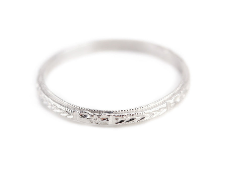 The Mallory Band in Platinum from The Elizabeth Henry Collection