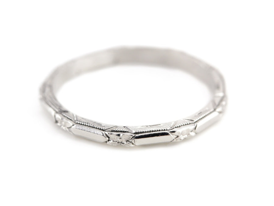 The Amelia Band in Platinum from The Elizabeth Henry Collection
