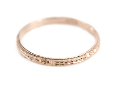 The Mallory 14K Rose Gold Band by Elizabeth Henry