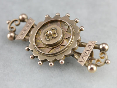Victorian Era Rose Gold Bar Pin