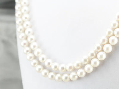 Vintage Double Strand Pearl Necklace of the Highest Quality