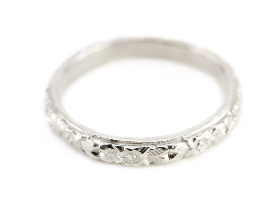 The Lillian Band in 14K White Gold from The Elizabeth Henry Collection