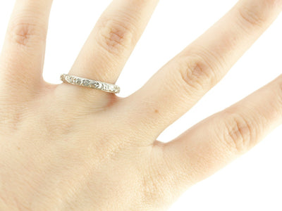 The Lillian 14K White Gold Band by Elizabeth Henry
