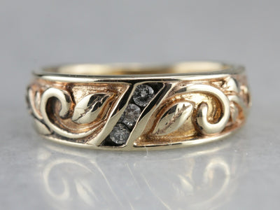 Organic and Flowing Diamond Band