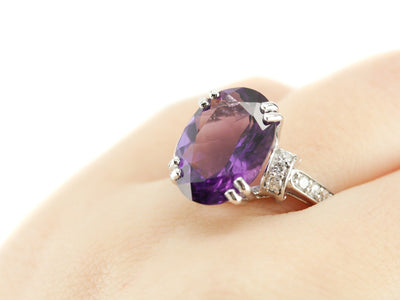 The Edie Amethyst Diamond Cocktail Ring by Elizabeth Henry