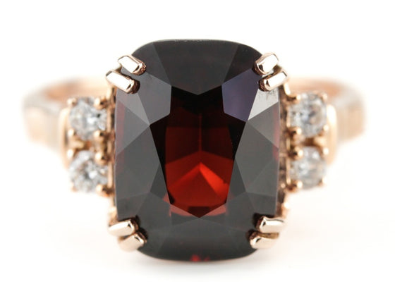 The Sadie Garnet Cocktail Ring by Elizabeth Henry
