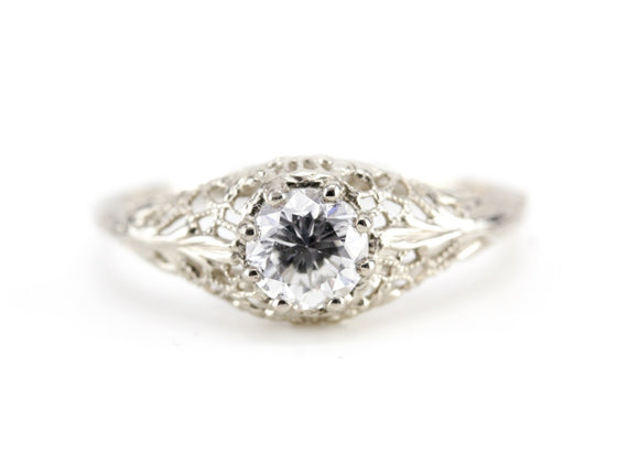Diamond Solitaire Marcy Engagement Ring by Elizabeth Henry