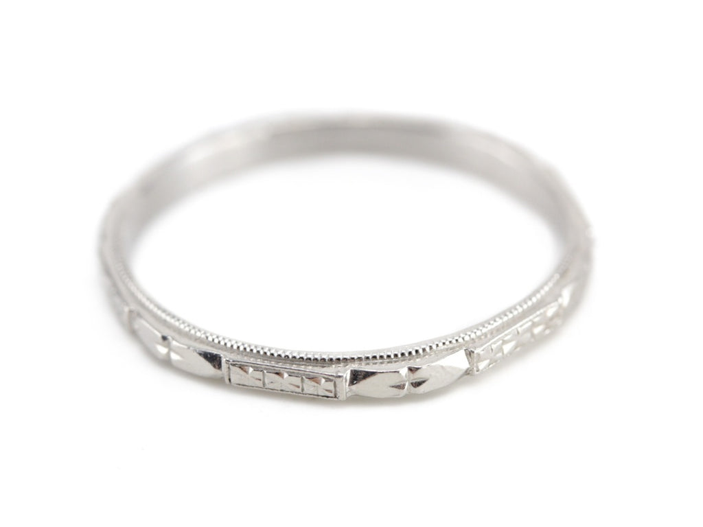 The Cora Band in Platinum from The Elizabeth Henry Collection