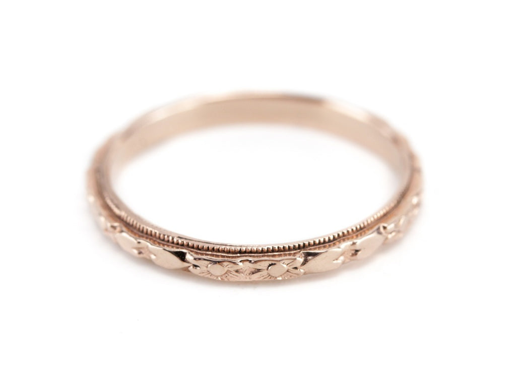 The Marjorie Band in 14K Rose Gold from The Elizabeth Henry Collection
