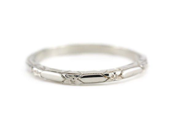 The Amelia Band in 14K White Gold from The Elizabeth Henry Collection