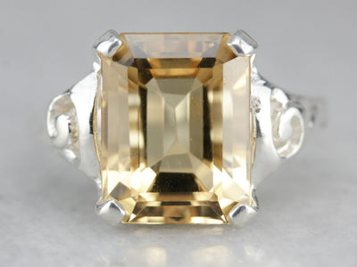 Citrine Cocktail Ring by 925 Market Square