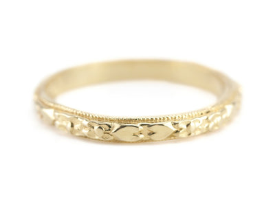 The Marjorie 18K Yellow Gold Band by Elizabeth Henry
