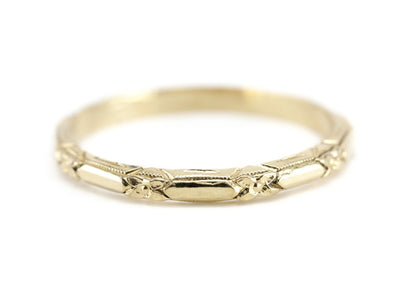 The Amelia 18K Yellow Gold Band by Elizabeth Henry