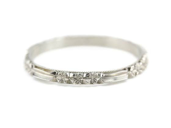 The Rosie Band in 14K White Gold from The Elizabeth Henry Collection