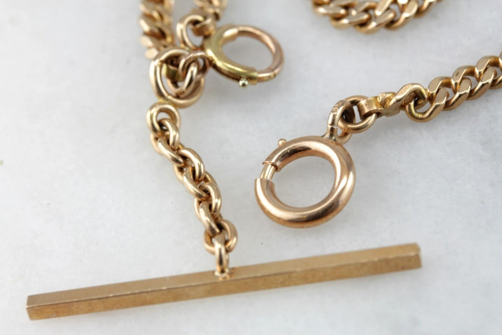 Gravitas: Original Retro Era, Victorian Revival Gold Watch Chain