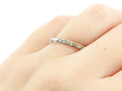The Rosie 14K White Gold Band by Elizabeth Henry